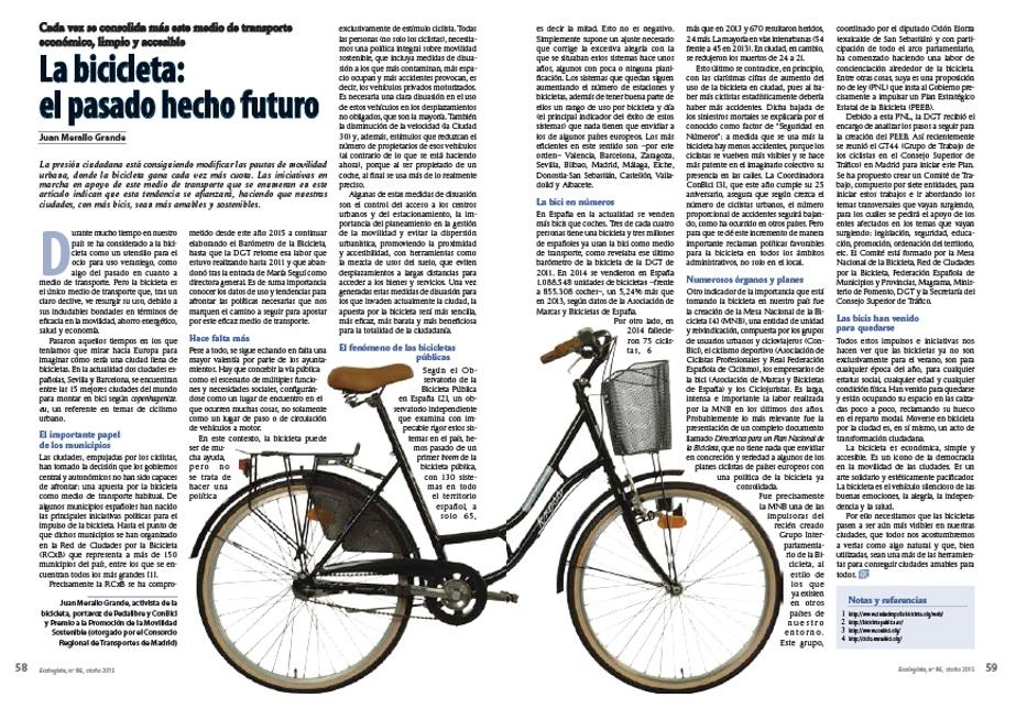 La bicicleta: el pasado hecho futuro