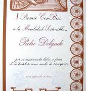 I Premio ConBici a la Movilidad Sostenible 2003: Pedro Delgado