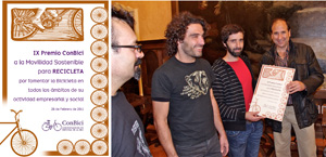 IX Premio ConBici a la movilidad sostenible 2011: Recicleta de Zaragoza