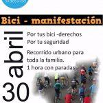 Bici-manifestación en Zamora