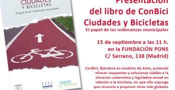 """""""Ciudades y Bicicletas"""", nueva publicación para aumentar el número de bicis en las calles"""
