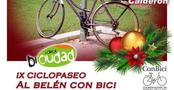 """IX CICLOPASEO """"Al belén con bici"""" en Lorca"""