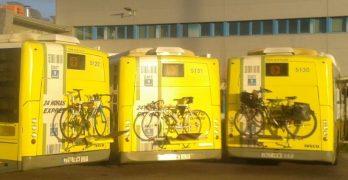 Nuevo servicio de portabicicletas en la línea exprés de la EMT de Madrid que conecta el aeropuerto