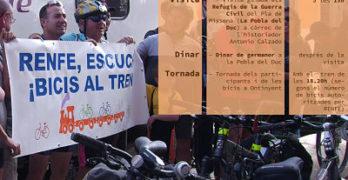 Marcha en bici por el tren Xàtiva-Alcoi
