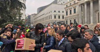 La MEB con Anna González en el Congreso por #UnaLeyJusta