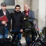 Huesca en Bici se reune con el diputado Odón Elorza