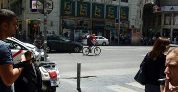 10 razones para que la Gran Vía de Madrid incorpore carril bici