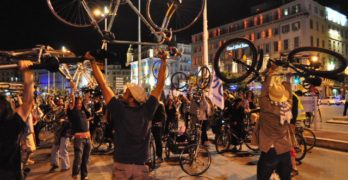 Velorución universal en Francia, gran evento para promover la bicicleta