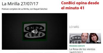 ConBici opina en Onda 0 sobre Carreteras ciclistas y campaña coche de apoyo