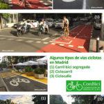 ConBici apoya las nuevas vías ciclistas de Madrid