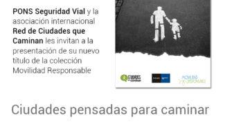"""ConBici asistirá a la presentación del libro """"Ciudades pensadas para caminar"""""""