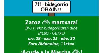 Marcha por el bidegorri de la BI-711 BILBAO-GETXO