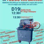 Marcha Ciclista y otras acciones contra la paralización de la ampliación del servicio Bizi