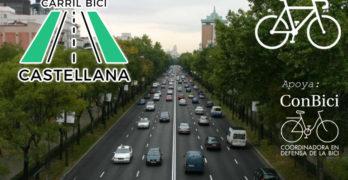 Petición por el carril bici de la Castellana