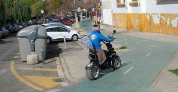 Acontramano solicita control de Patinetes y de Motocicletas eléctricas por los carriles-bici