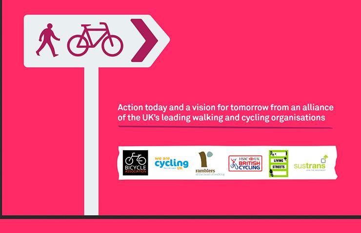 Manifiesto 2018 de peatones y ciclistas en Reino Unido
