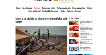 elcierredigital.com: Matar a un ciclista sale barato