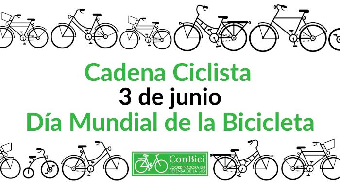 Acción «Cadena Ciclista» en el día Mundial de la Bici 3J