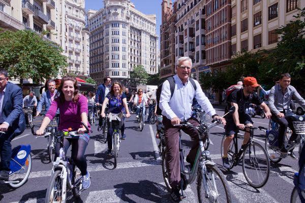 Foto del paseo inaugural Congreso Ibérico
